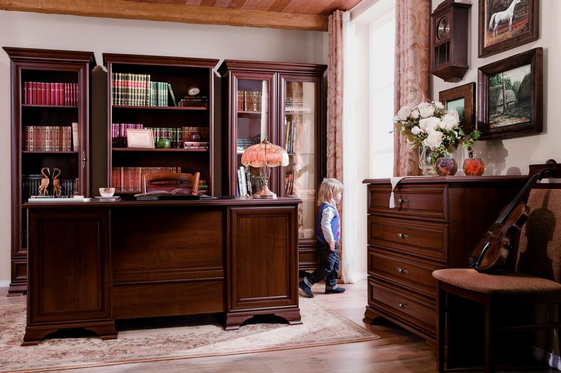 мебель для кабинета кентаки каштан